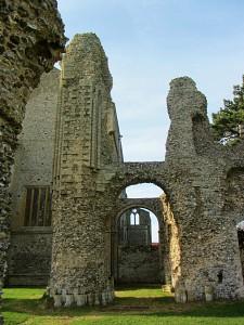 Binham Priory through the arch