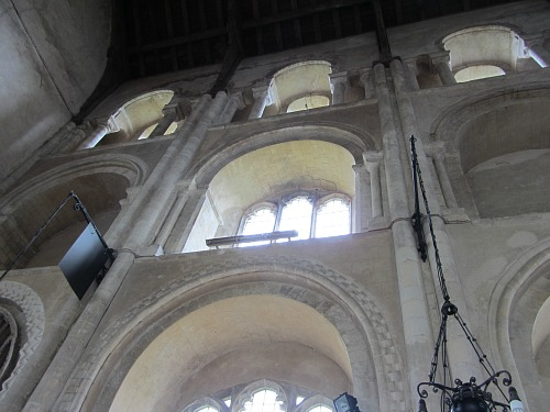 Arched windows at Binham Priory