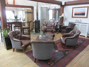The bar area at Briarfields Hotel, Titchwell