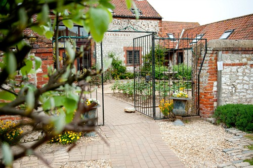 The courtyard at Briarfields Hotel, Titchwell