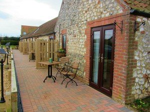 Exterior of the dog friendly rooms at Briarfields Hotel