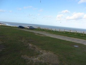 Cromer beach cliff top car park