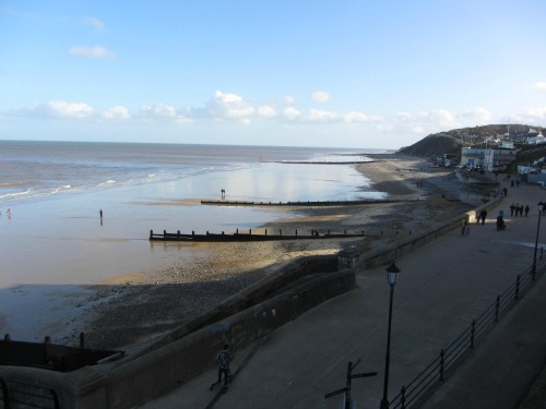Cromer beach to the east