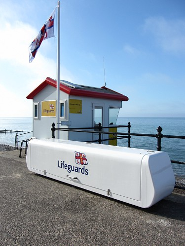 The Lifeguard station on Cromer beach