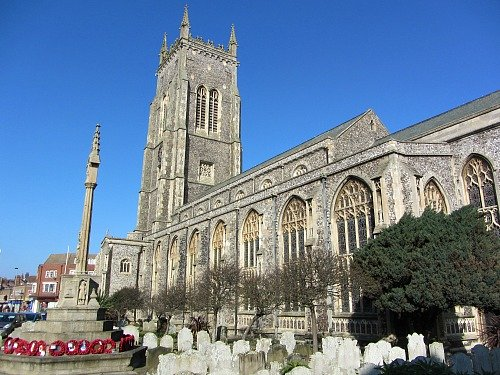 Cromer Church with the tallest tower in Norfolk
