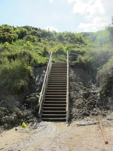 Steps towards Cromer Lighthouse