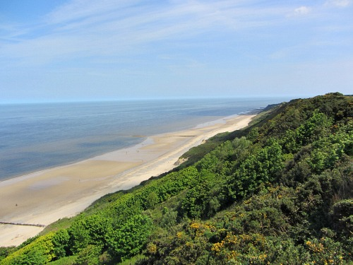 The view from the top of the heathland above Cromer