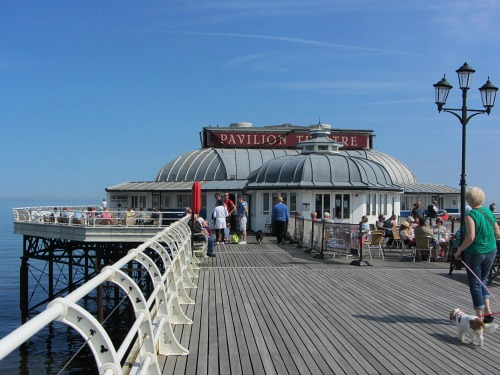 Have a drink in the bar or cafe on Cromer Pier