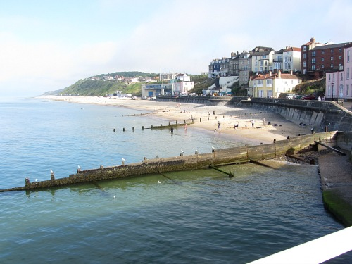 The view from Cromer Pier towards Overstrand