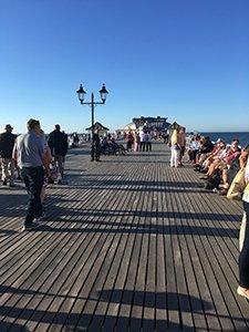 Cromer Pier looking towards the Pavilion Theatre