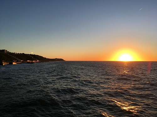 The sunset from Cromer Pier during The Summer Show interval