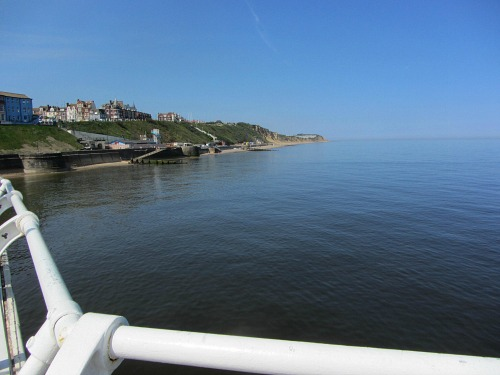 The view from Cromer Pier towards East Runton