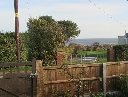 The sea view from the garden at Dawn, in Hemsby