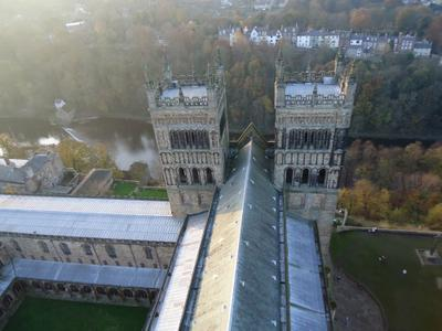 Durham Cathedral from the roof