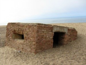 Second World War Pill box on East Runton beach