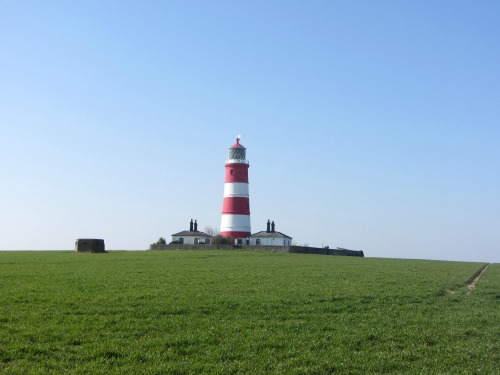Happisburgh lighthouse from the clifftop
