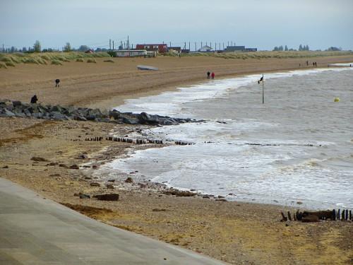 South beach from the promenade at Heacham