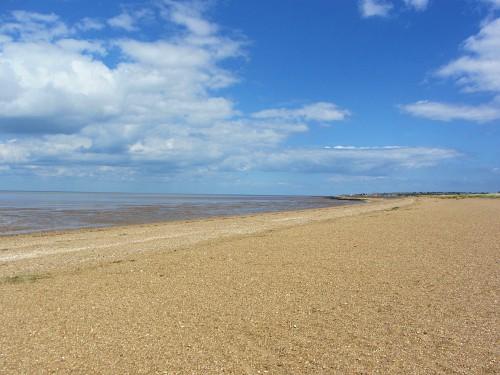 The more rugged South beach at Heacham