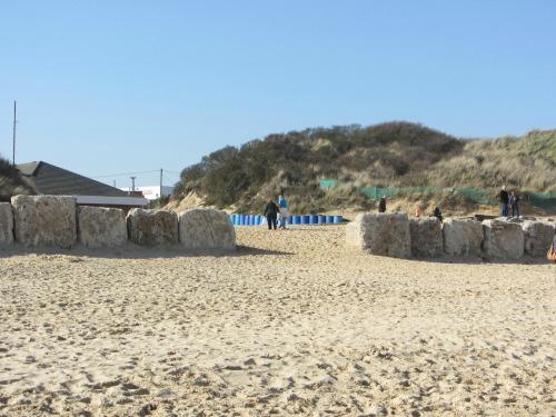 Hemsby Beach Anti Tank Blocks
