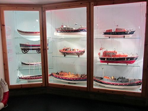 Model lifeboats at Henry Blogg Museum