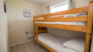The bunk bed room in the Hickling chalets