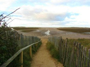 The approach to Holkham beach