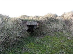 Pill box at Holme Dunes