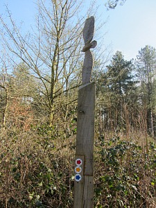 One waymarker in Holt Country Park