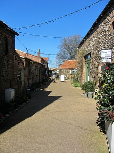 One of the flint stone yards in Holt