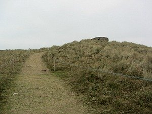The path to the pill box at Horsey Gap