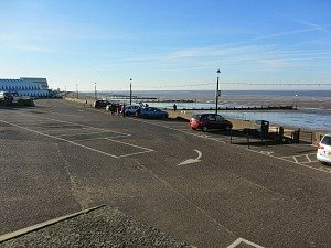 The car park at Hunstanton where the railway station used to be
