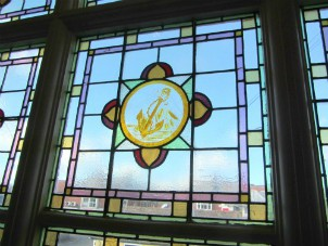Magnificent stained glass windows evident at Manor Hotel, Mundesley
