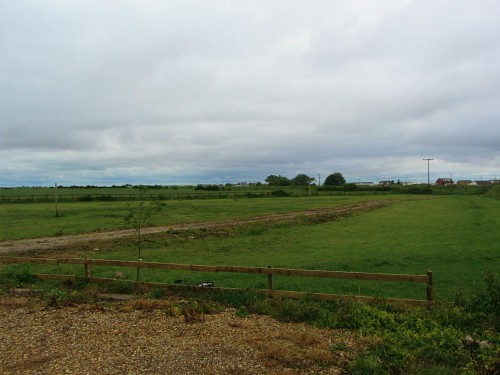 The rural landscape with open marshland but just 2 min walk to the beach