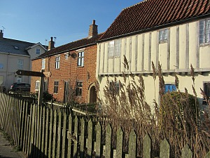 The Tudor House at Sea Palling where you turn inland towards the dunes