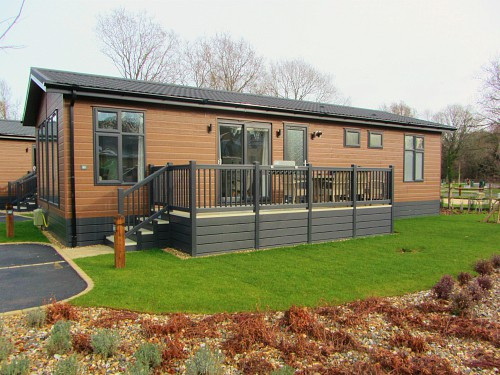 One of the luxury lodges at Norfolk Woods
