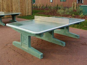 Outdoor table tennis tables at Norfolk Woods