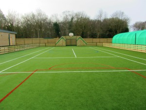 The all-weather tennis court/basketball court
