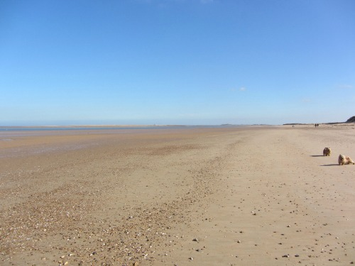 Empty Brancaster Beach