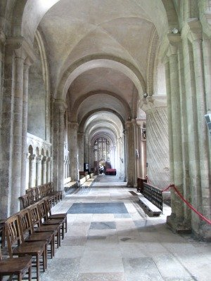 The cloisters at The Cathedral