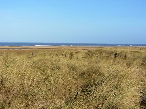 Old Hunstanton beach from the Norfolk Coast Path