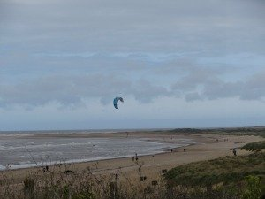 Kite surfing in Norfolk