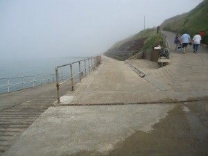 Overstrand beach at high tide