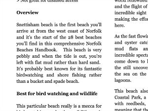 Norfolk Beaches Handbook overview example