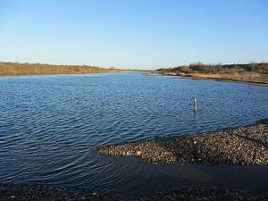 One of the lagoons at RSPB Snettisham