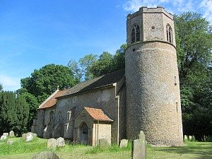 Norman Round Tower Churches in many Norfolk villages