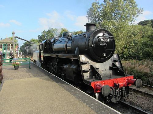 Steam Engine 76084 on the Poppy Line, Norfolk