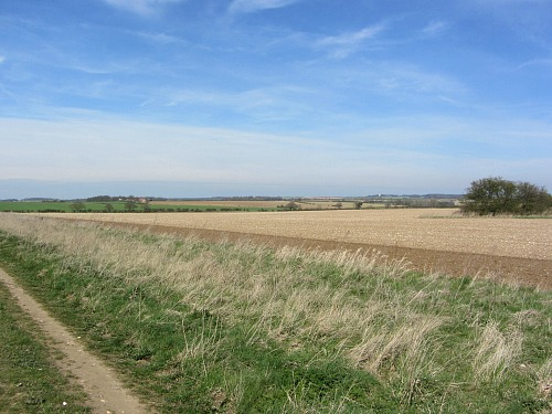 The open landscape along the Peddars Way