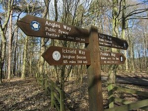 Walks joining the start of the Peddars Way