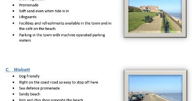 An example of what you'll get in the Quick Guide To Norfolk Beaches pdf