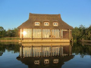 Ranworth Broad floating visitor centre